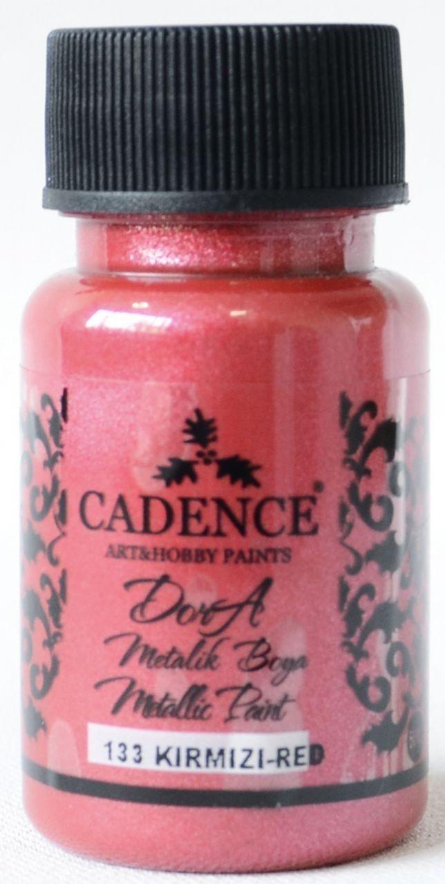 Kırmızı Cadence Dora Metalik Boya 50ML(cc) 133 renkleri