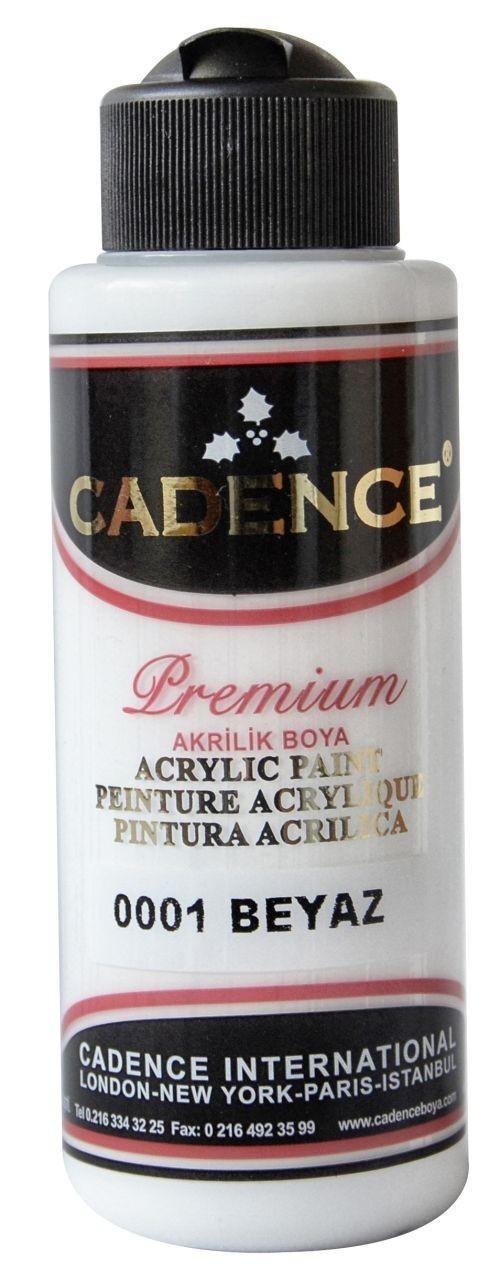 Cadence Akrilik Boya 120ML(cc) 0001 Beyaz renkleri