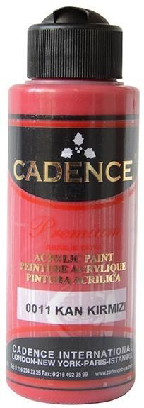 Cadence Akrilik Boya 120ML(cc) 0011 Kan Kırmızı renkleri