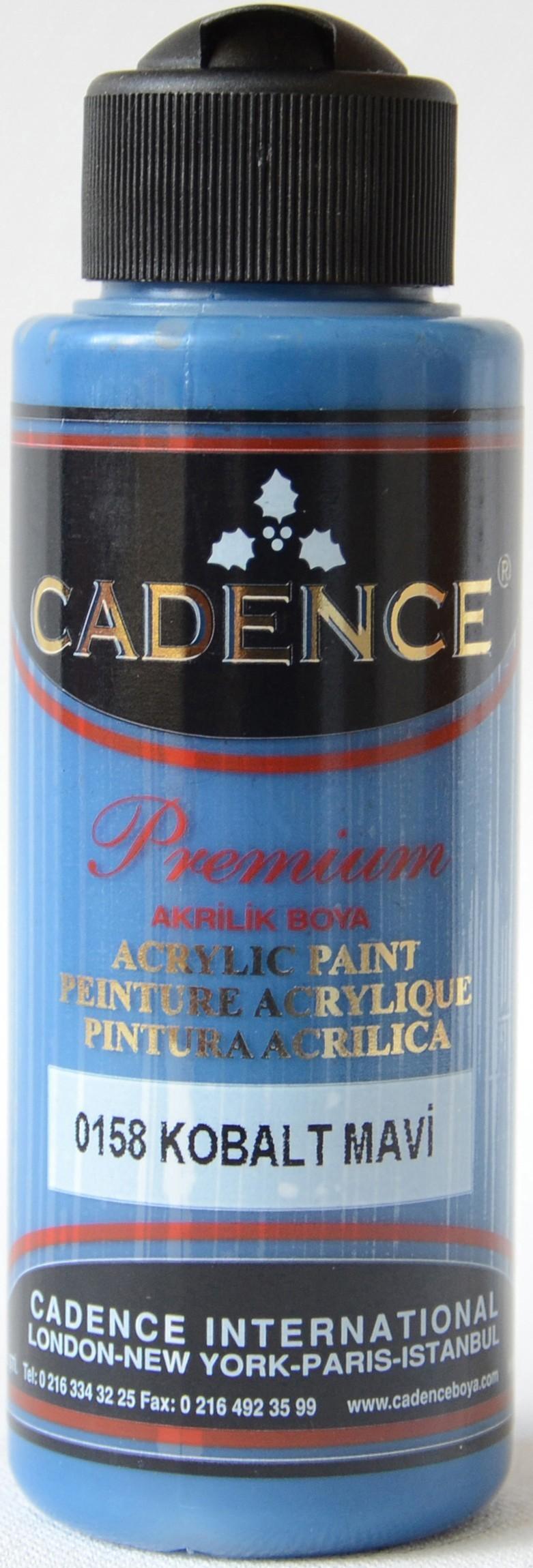Cadence Akrilik Boya 120ML(cc) 0158 Kobalt Mavi renkleri
