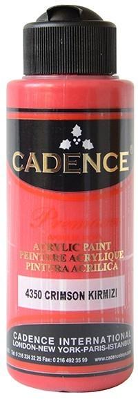 Cadence Akrilik Boya 120ML(cc) 4350 Crimson Kırmızı renkleri
