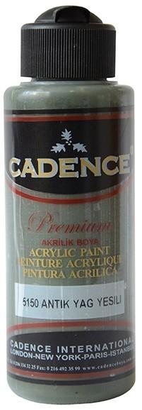 Cadence Akrilik Boya 120ML(cc) 5150 Antik Yağ Yeşili renkleri