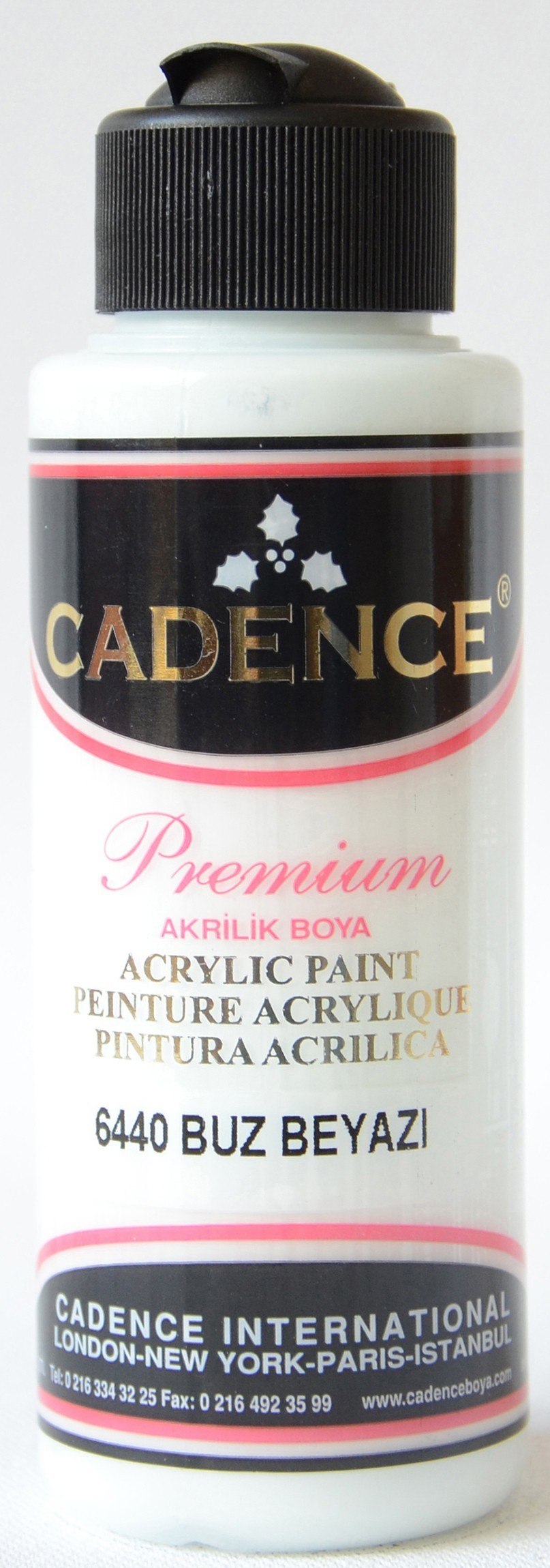 Cadence Akrilik Boya 120ML(cc) 6440 Buz Beyazı renkleri