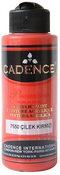 Cadence Akrilik Boya 120ML(cc) 7550 Çilek Kırmızı renkleri
