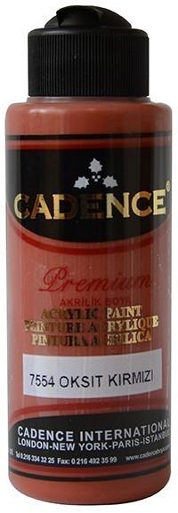 Cadence Akrilik Boya 120ML(cc) 7554 Oksit Kırmızı renkleri