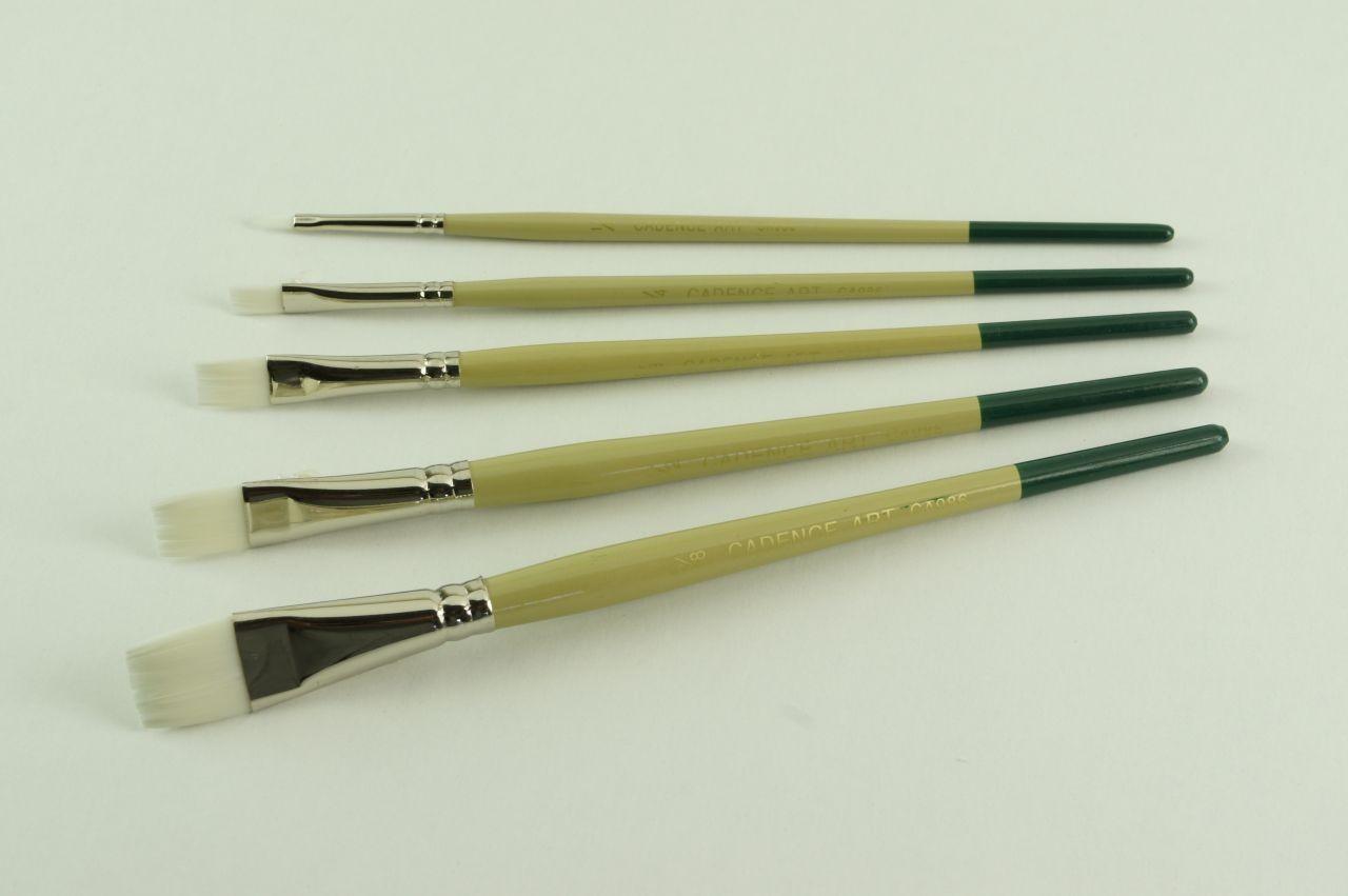Cadence Beyaz Düz OneStroke Fırçası CA986 renkleri