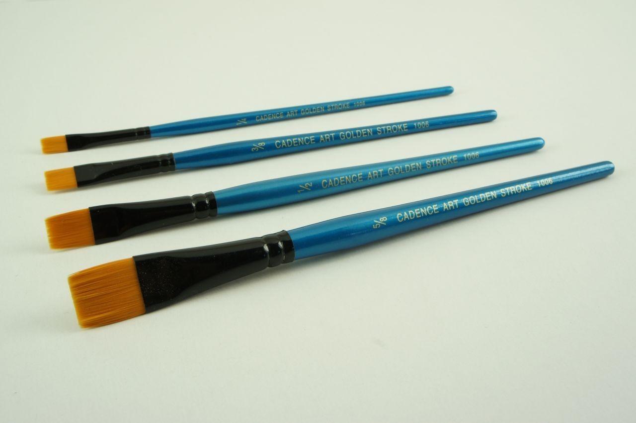 Cadence İpek Sarı Düz OneStroke Fırçası CA1006F renkleri