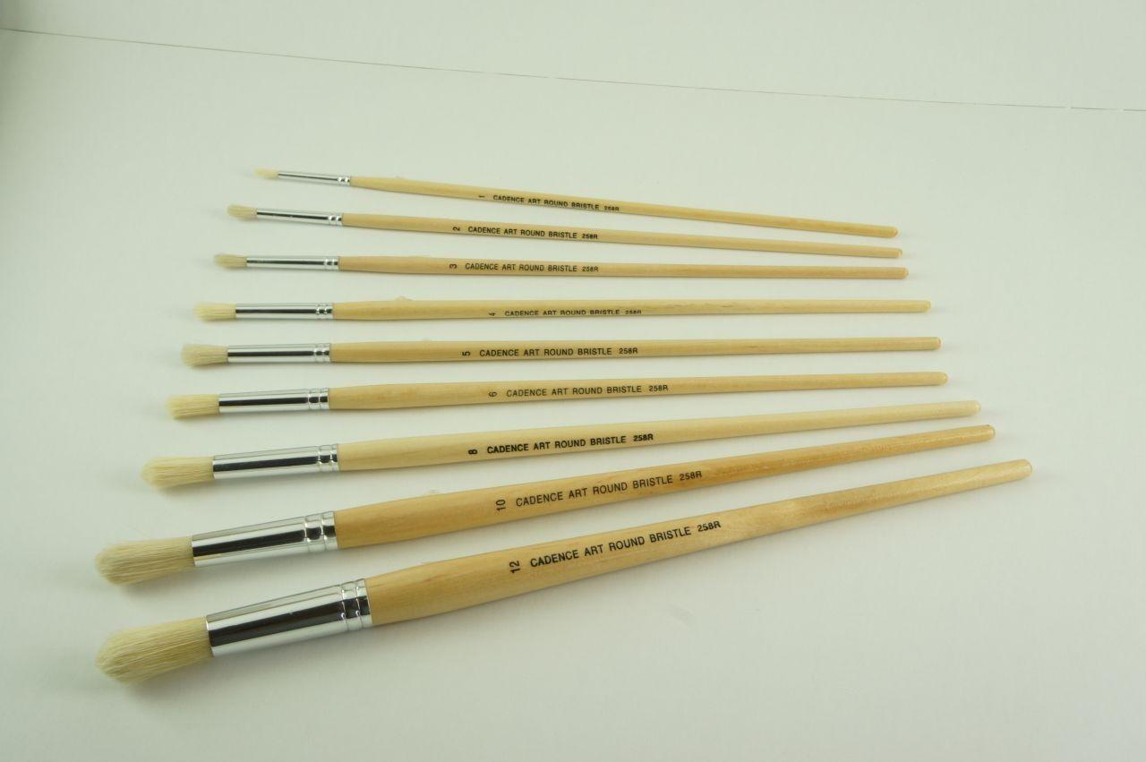 Cadence Yuvarlak Yağlı Boya Fırçası CA258R renkleri