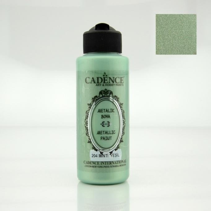 Mint Yeşili Rengi Cadence Metalik Boya 120ML (204) renkleri