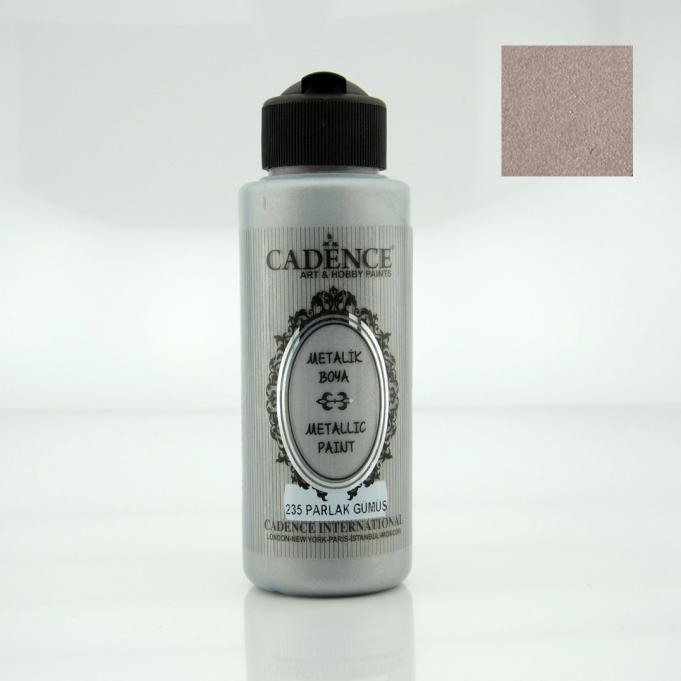 Parlak Gümüş Rengi Cadence Metalik Boya 120ML (235) renkleri