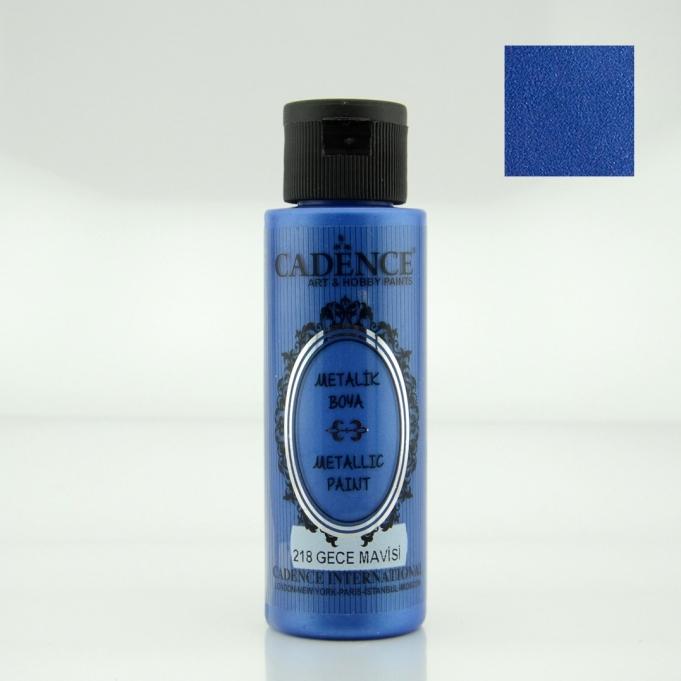 Gece Mavisi Rengi Cadence Metalik Boya 70ML (218) renkleri