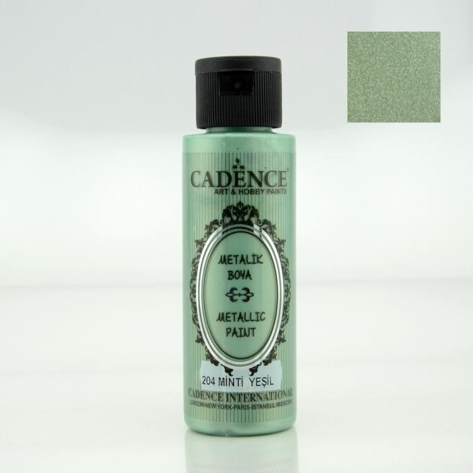 Mint Yeşili Rengi Cadence Metalik Boya 70ML (204) renkleri
