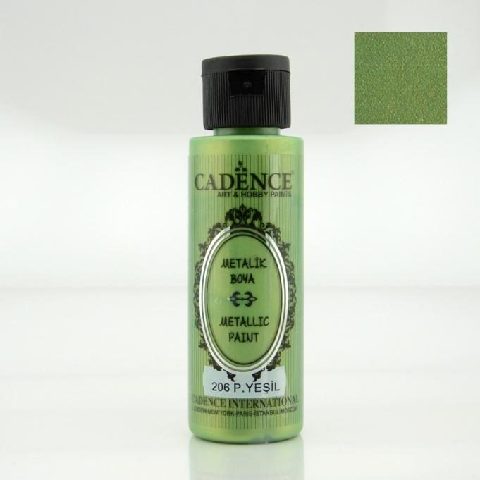Pastel Yeşili Rengi Cadence Metalik Boya 70ML (206) renkleri