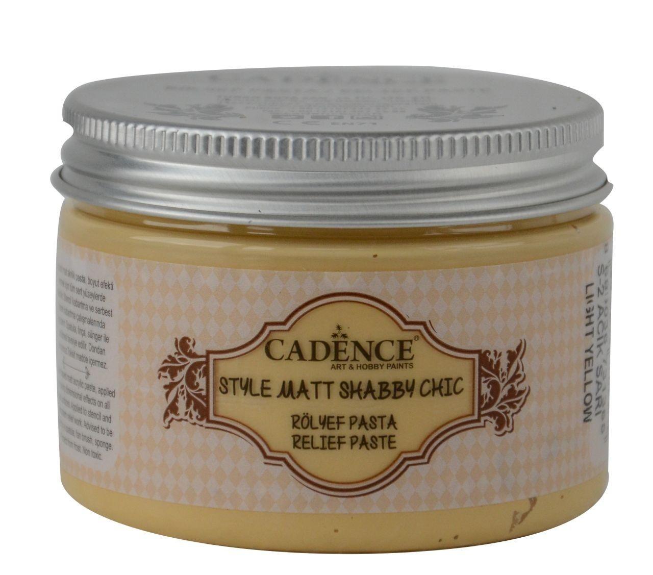 SR02 Açık Sarı Shabby Chic Rölyef Pasta(Mat) özellikleri