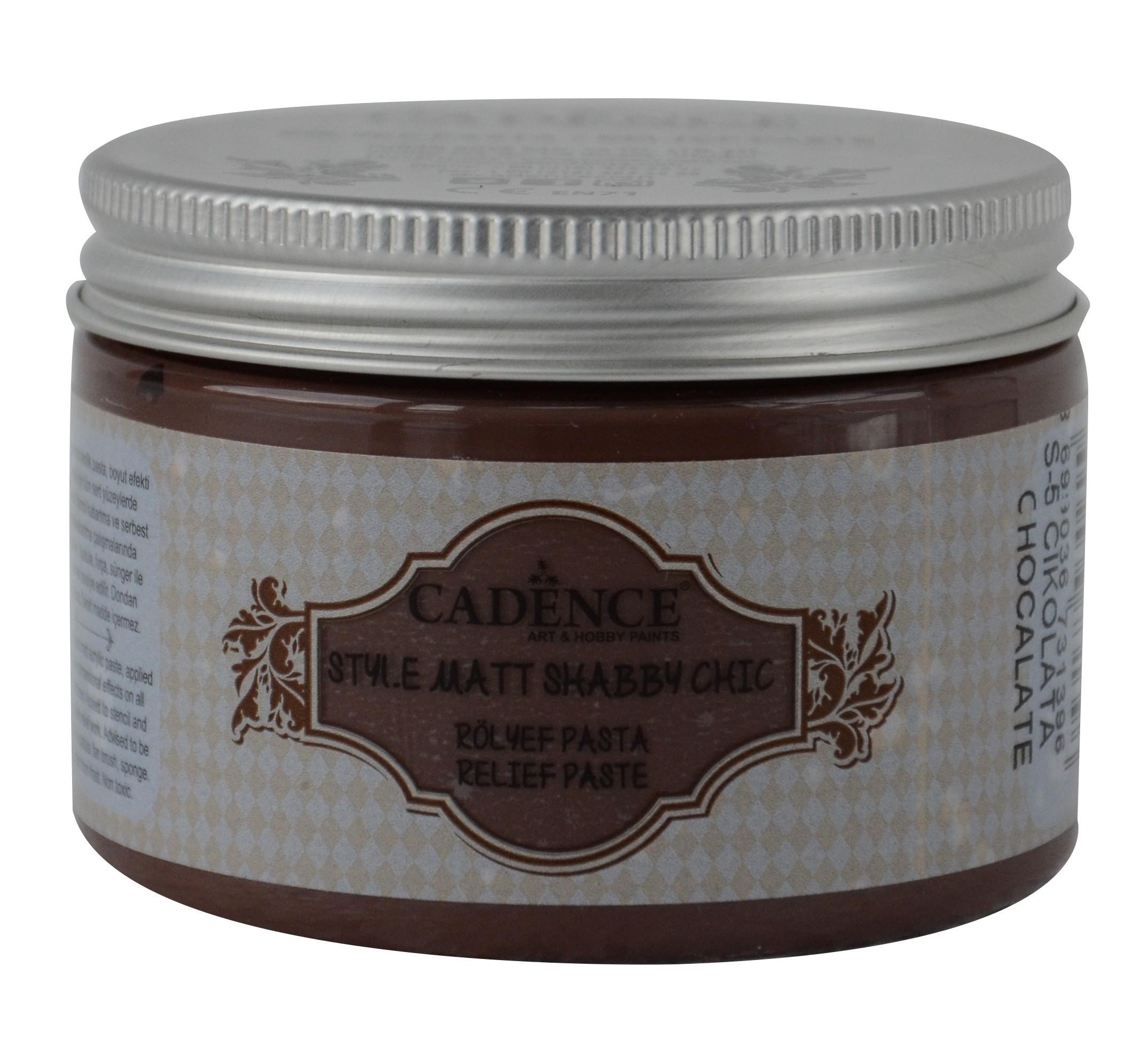 SR05 Çikolata Shabby Chic Rölyef Pasta(Mat) renkleri