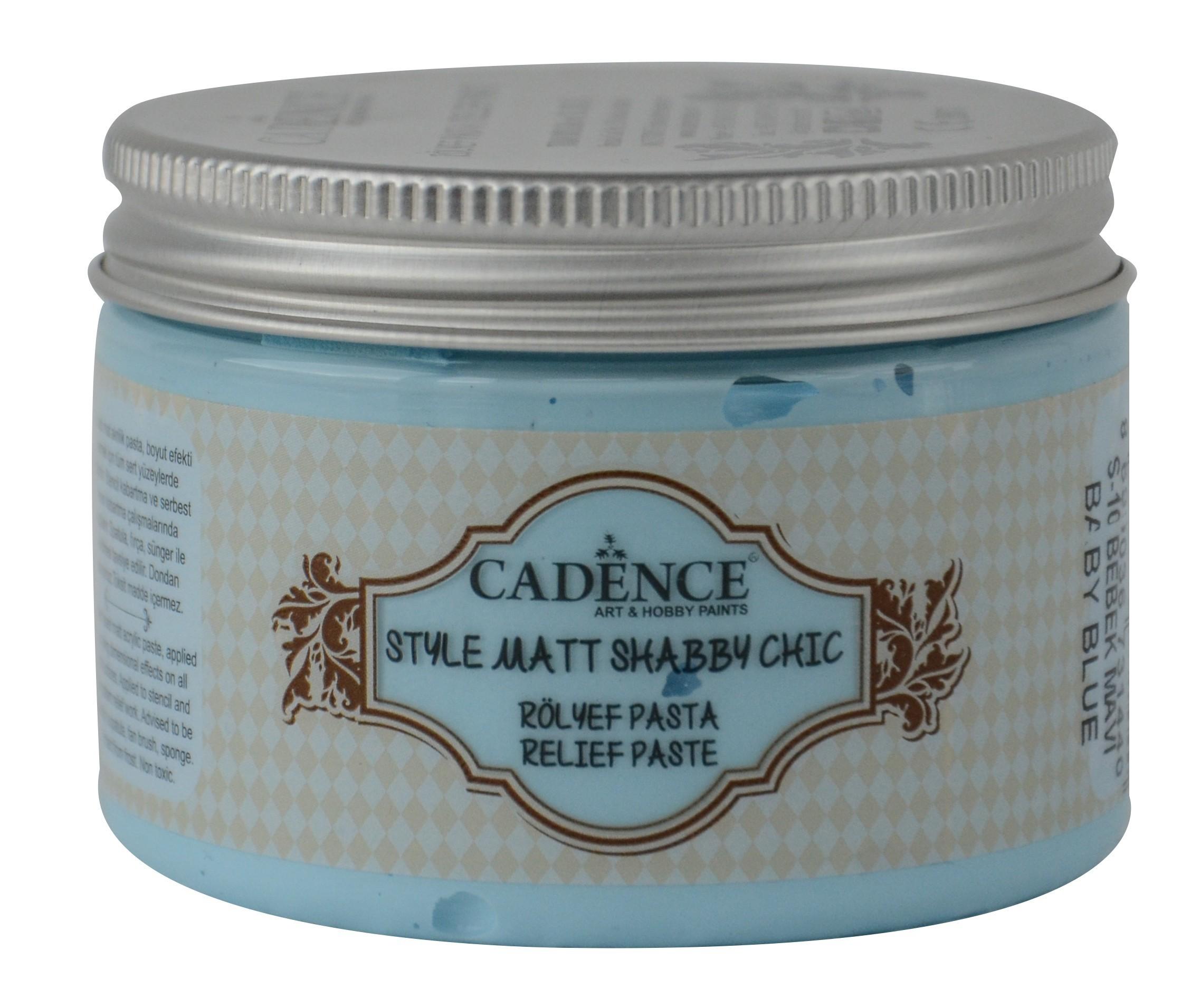 SR10 Bebek Mavi Shabby Chic Rölyef Pasta(Mat) renkleri