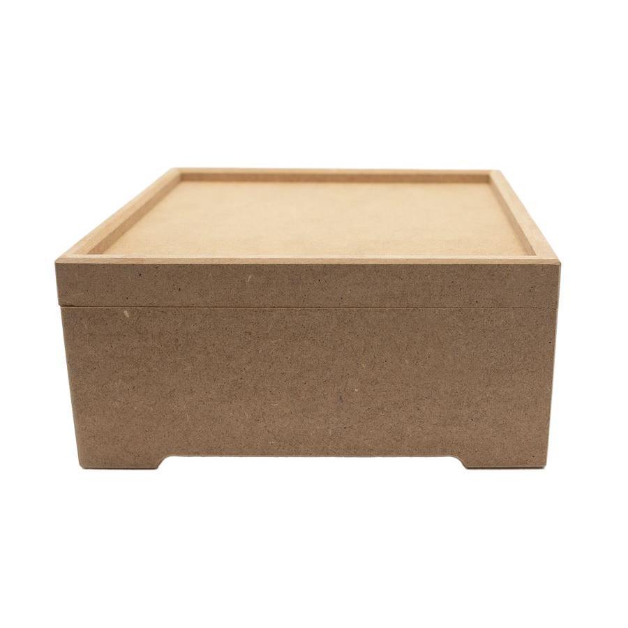 Kare Ahşap Kutu (MDF) K09 | Boyanabilir Ahşap Kutu | Düz MDF Kutu