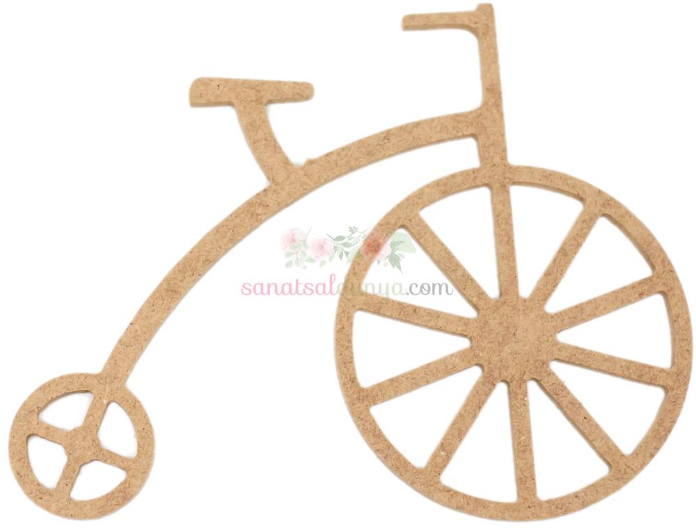 Ahşap Antik Bisiklet Figürü (MDF Obje)