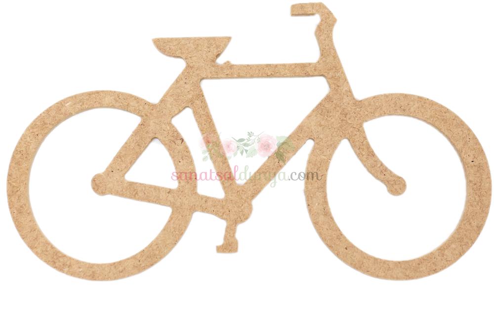 Ahşap Bisiklet Figürü (MDF Obje)