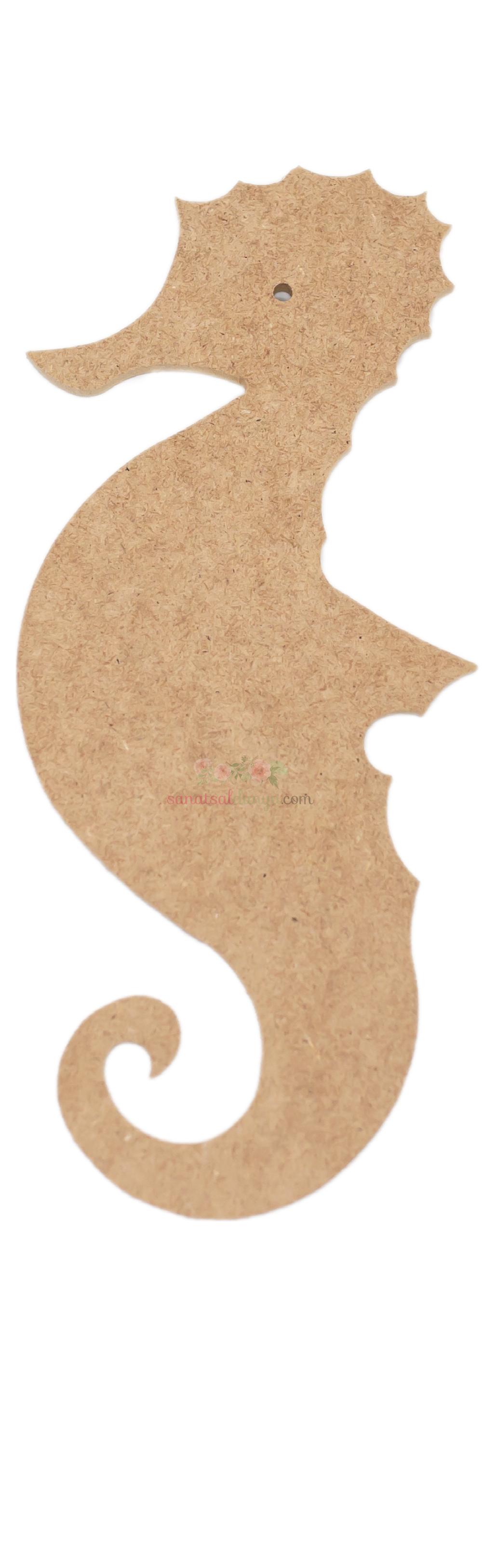 Ahşap Deniz Atı Figürü (MDF Obje)