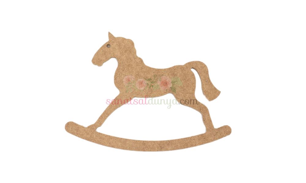 Ahşap Pony Atı Figürü (MDF Obje)
