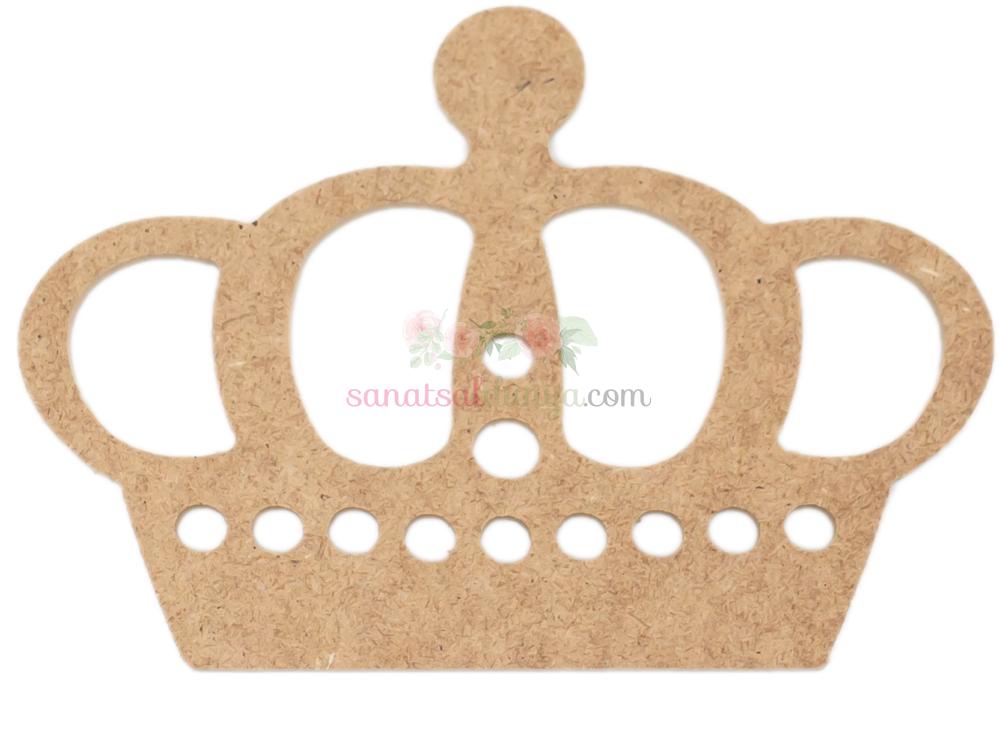 Ahşap Prens Tacı Figürü (MDF Obje)