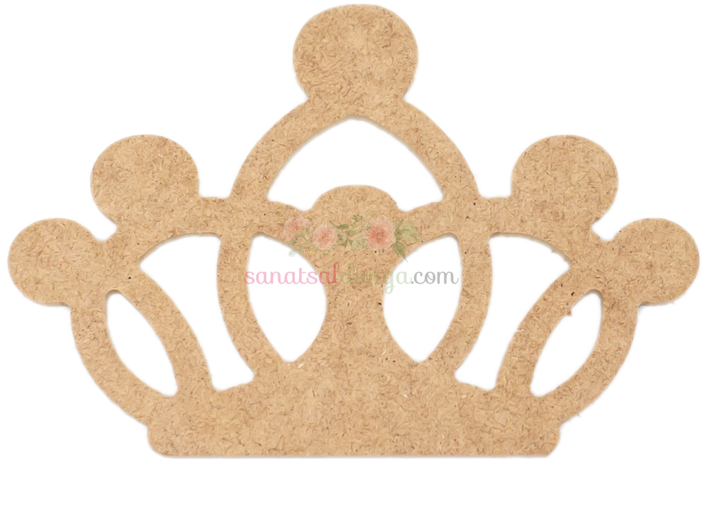 Ahşap Prenses Tacı Figürü (MDF Obje)