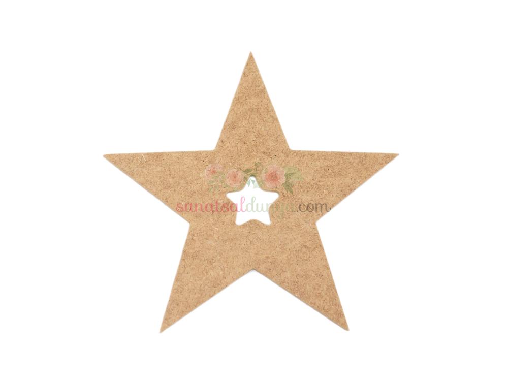 Ahşap Yıldız Figürü (MDF Obje)