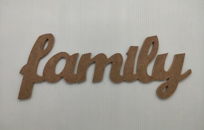 Family Dekoratif Ahşap Yazı MDF (13x32)