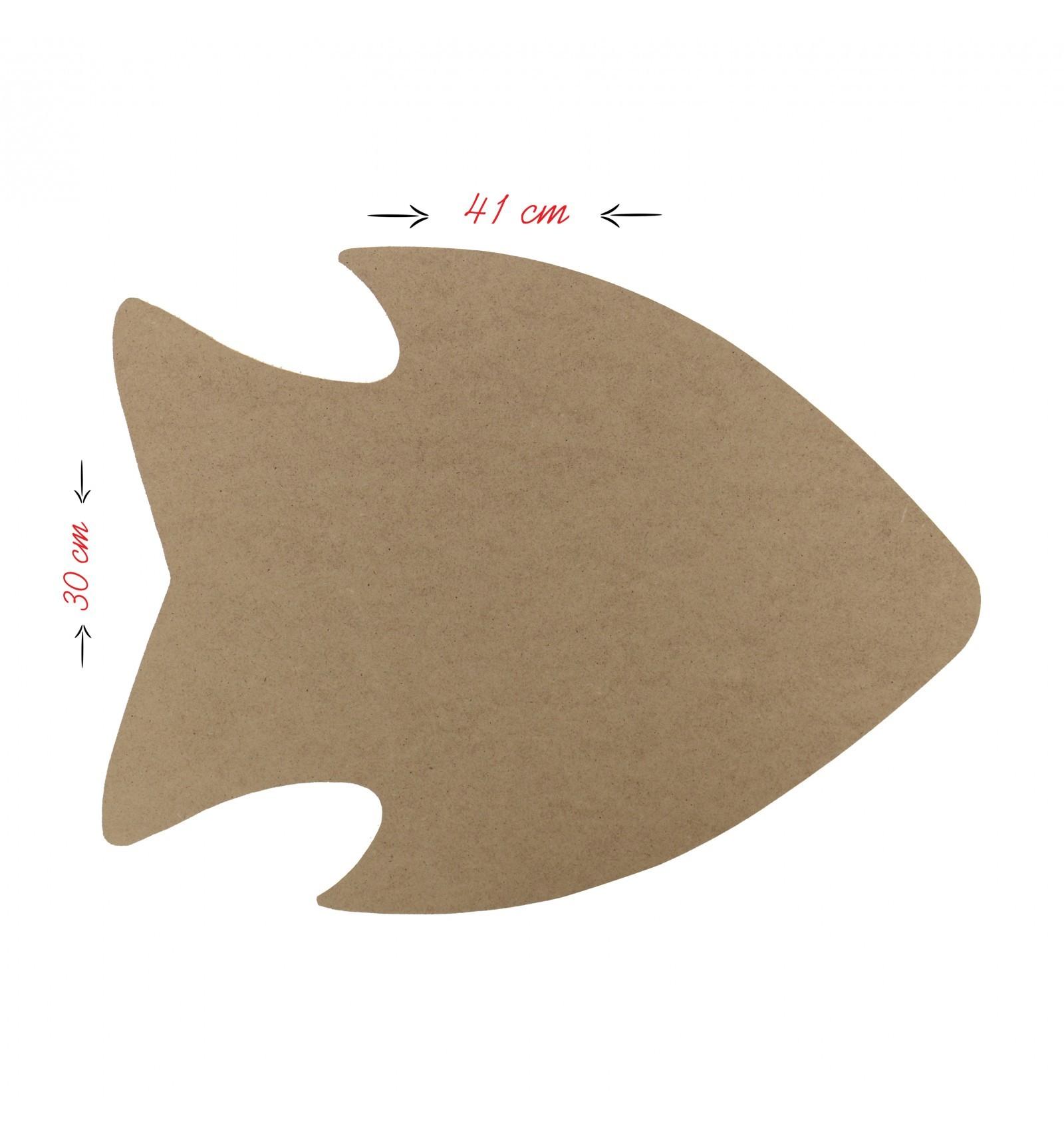 Balık Model Ahşap Supla (MDF)