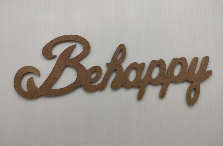 BeHappy Dekoratif Ahşap Yazı MDF (11x36)