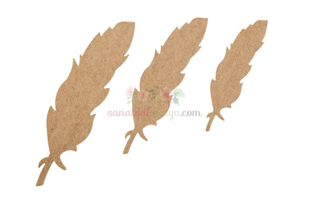 Dekoratif Kuş Tüyü (MDF Obje)