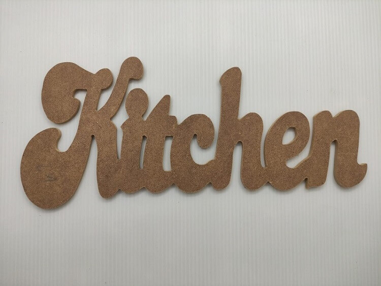 Kitchen Dekoratif Ahşap Yazı MDF (15x36)