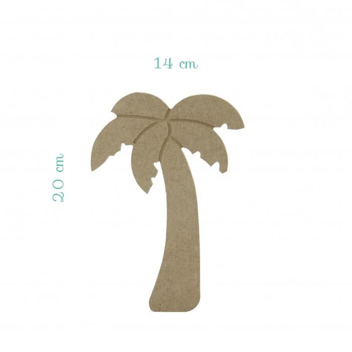 Palmiye Model Ahşap Obje Küçük (MDF)