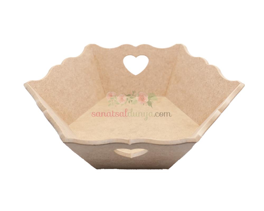 Altıgen Kalpli Ekmeklik (MDF) MA07
