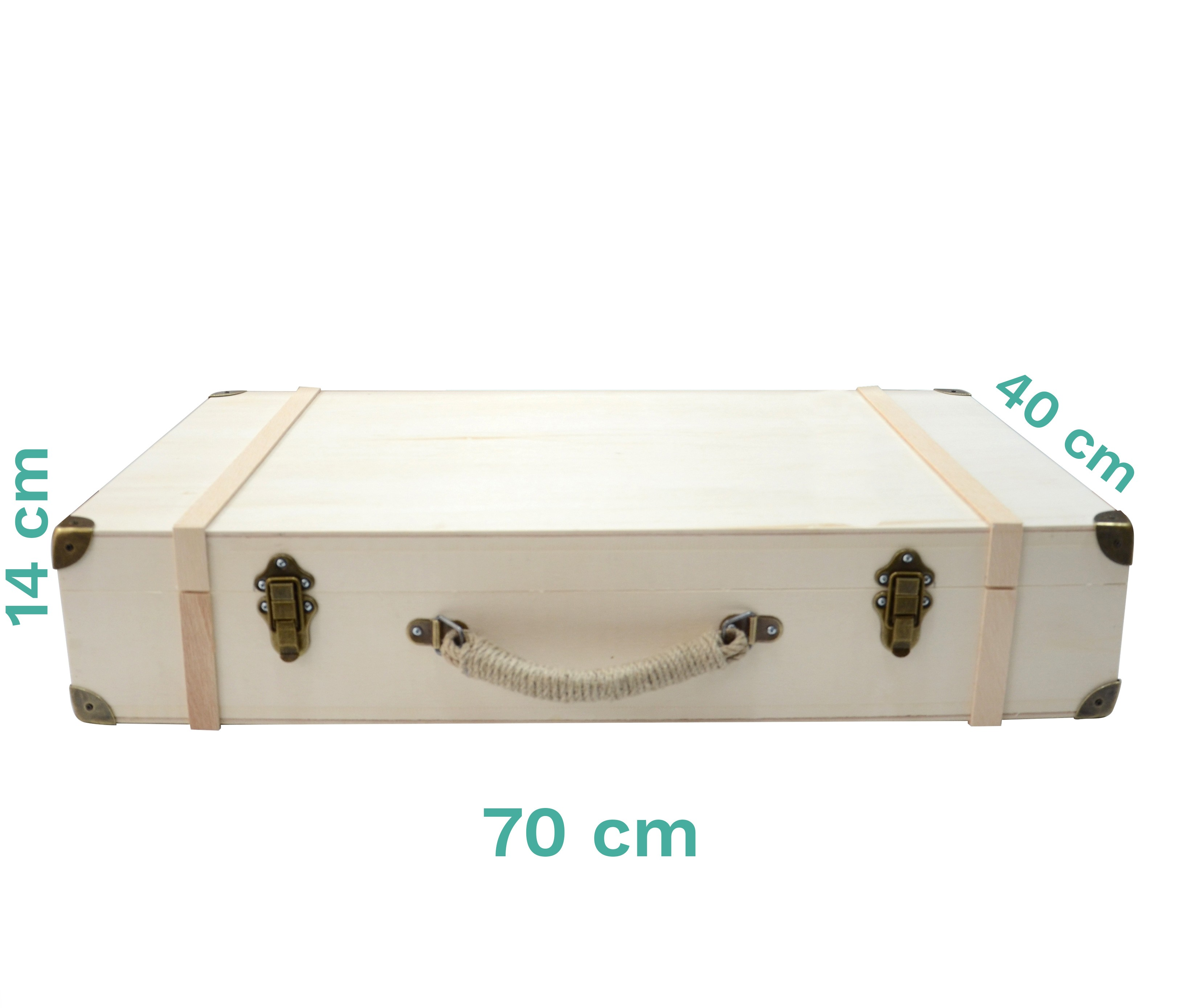 Bizart Bavul Masif Ahşap (Büyük Boy)