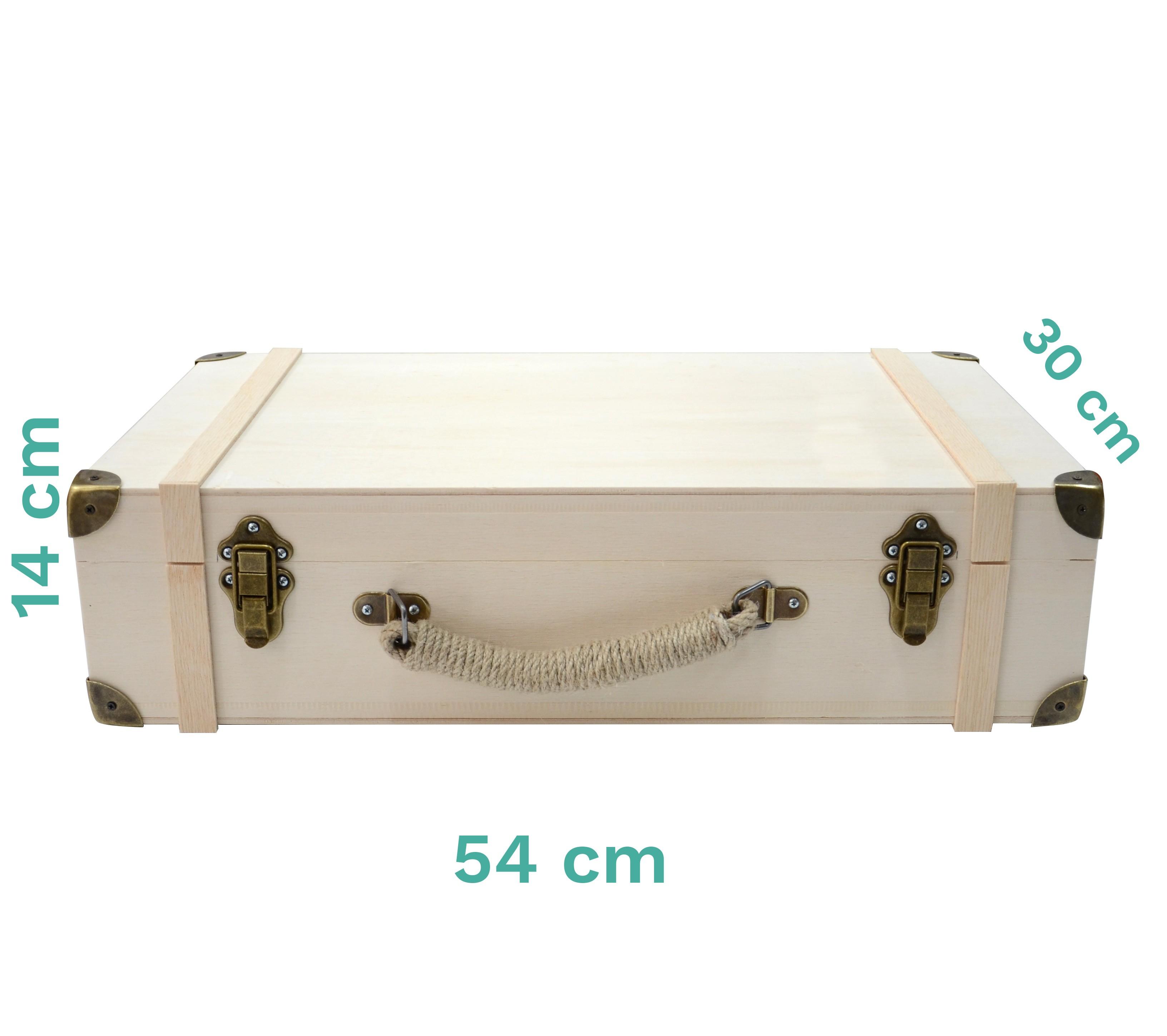 Bizart Bavul Masif Ahşap (Orta Boy)