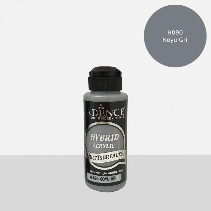 Koyu Gri Cadence Multisurface Akrilik Boya H090 - 120 ML