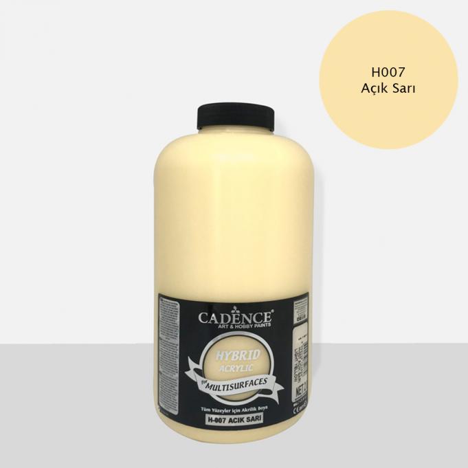 Cadence Hobi Boya | Açık Sarı Renk  | Tüm Yüzeyler için Boya | Sanatsal Hobi Marketi 120, 500, 2LT