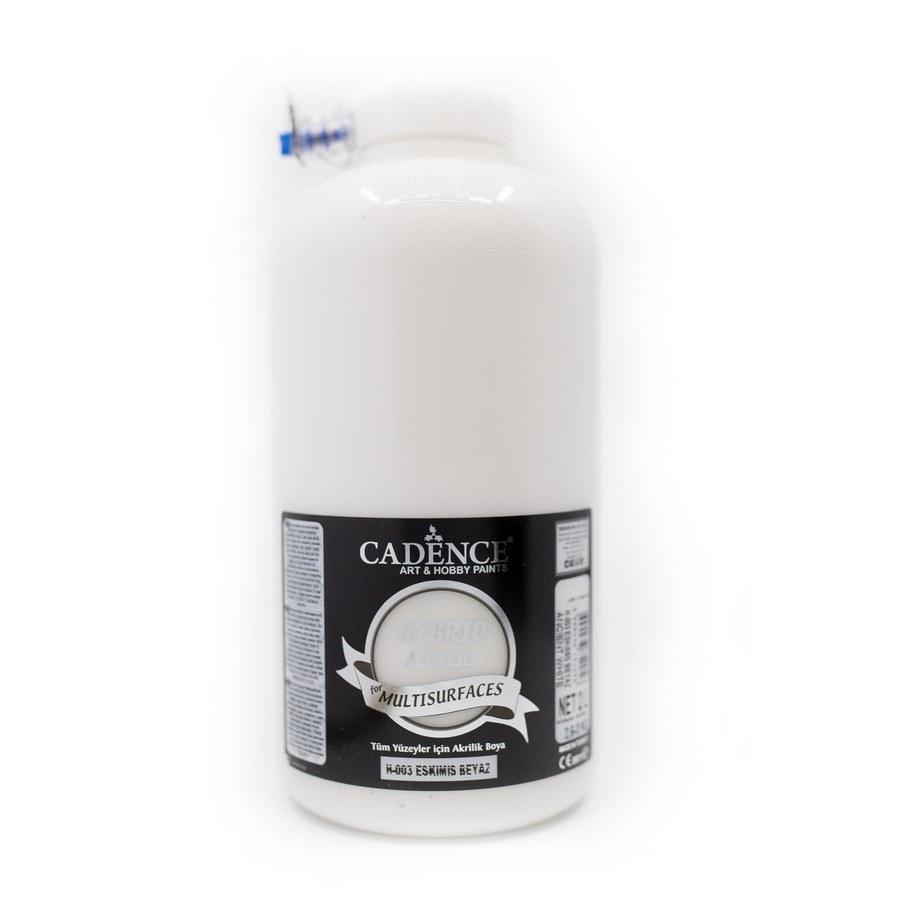 Cadence Hobi Boya | Eskimiş Beyaz Renk  | Tüm Yüzeyler için Boya | Sanatsal Hobi Marketi 120, 500, 2LT