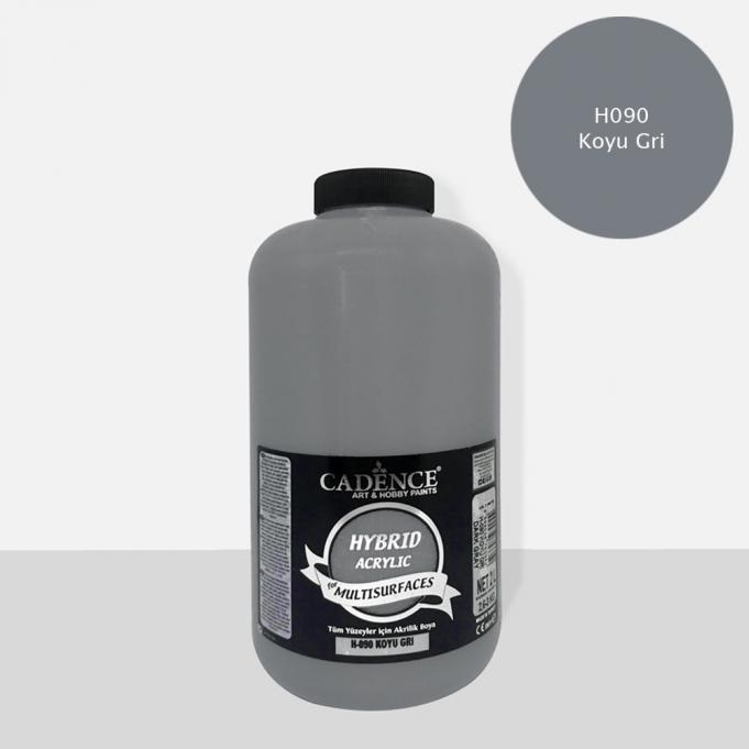 Koyu Gri Cadence Multisurface Akrilik Boya H090 - 2000 ML