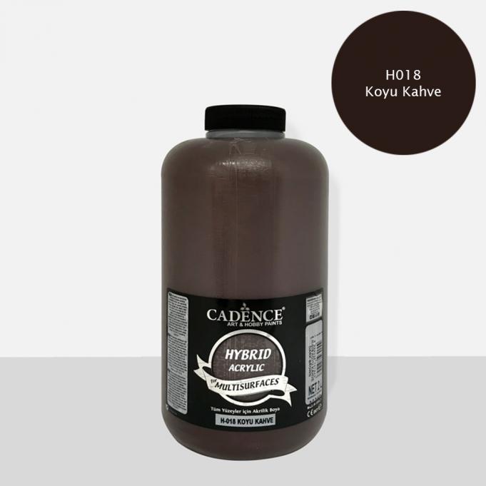 Koyu Kahve Cadence Multisurface Akrilik Boya H018 - 2000 ML