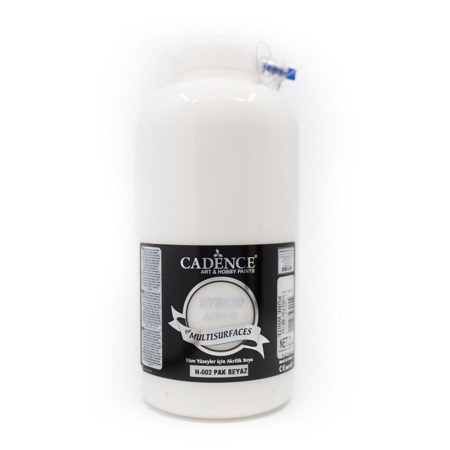 Cadence Hobi Boya | Pak Beyaz Renk  | Tüm Yüzeyler için Boya | Sanatsal Hobi Marketi 120, 500, 2LT