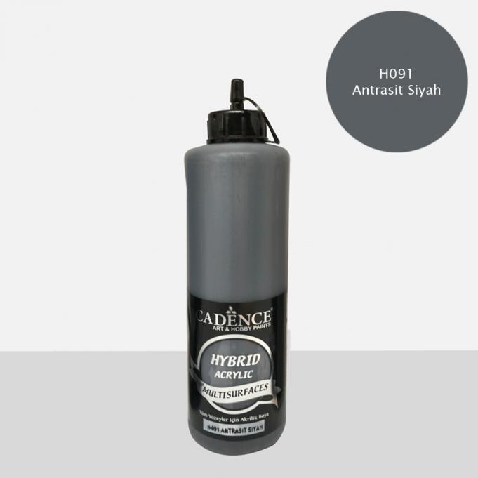 Antrasit Siyah Cadence Multisurface Akrilik Boya H091 - 500 ML