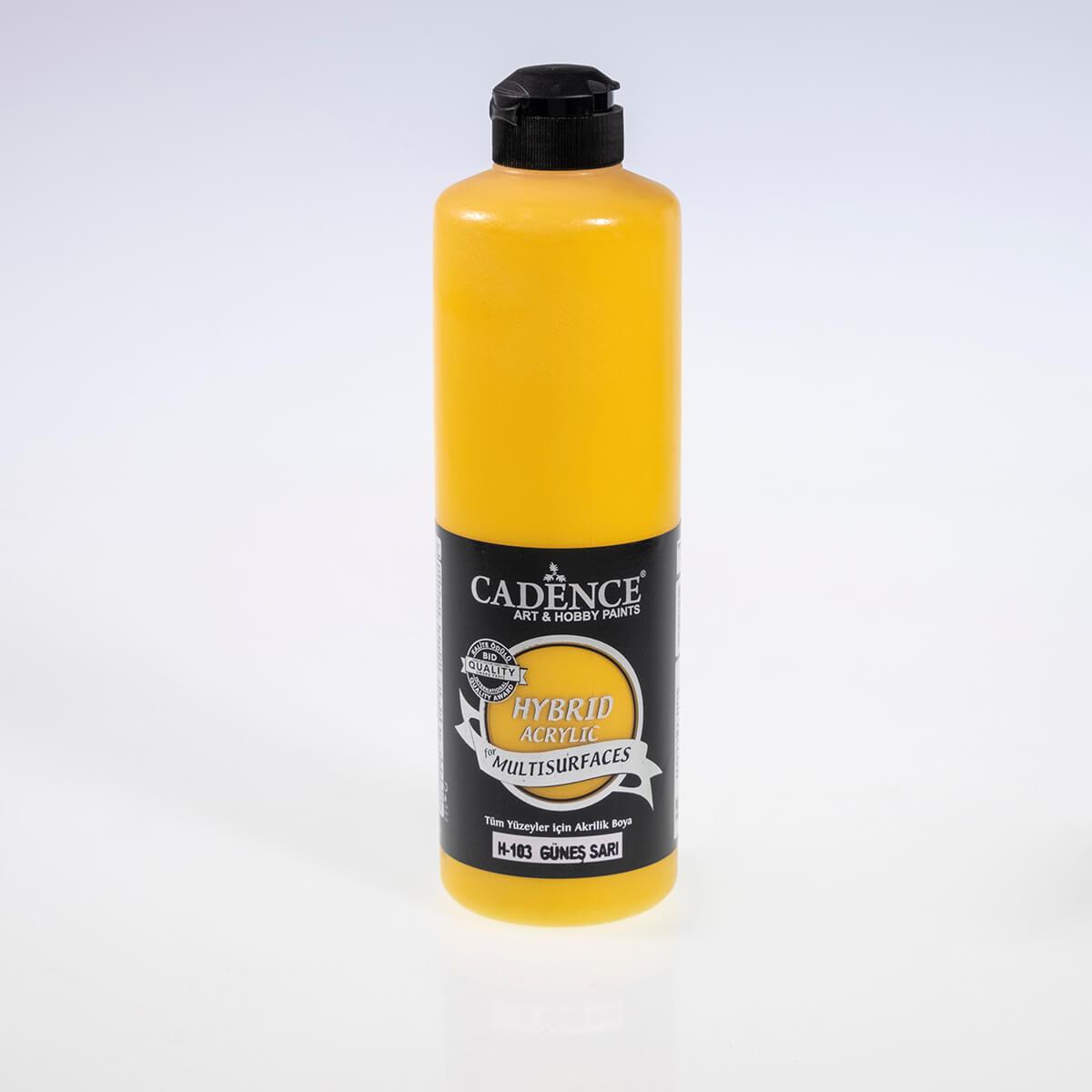 Güneş Sarı Cadence Multisurface Akrilik Boya H103 - 500 ML