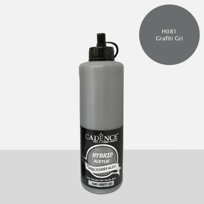Grafit Gri Cadence Multisurface Akrilik Boya H081 - 500 ML