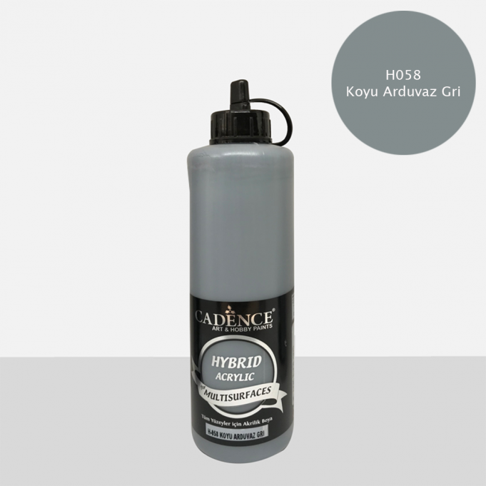 Koyu Arduvaz Gri Cadence Multisurface Akrilik Boya H058 - 500 ML