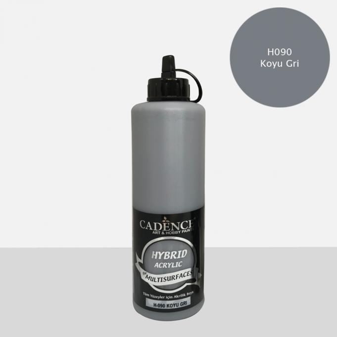 Koyu Gri Cadence Multisurface Akrilik Boya H090 - 500 ML