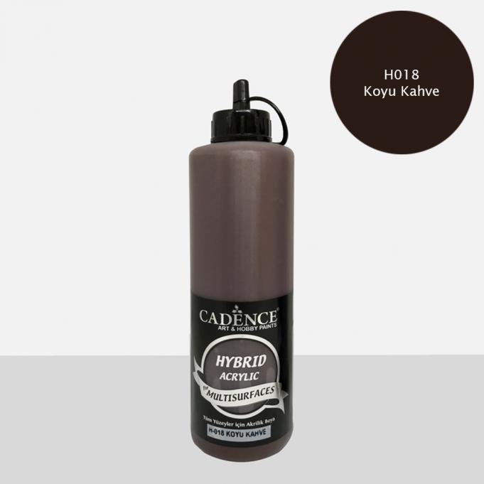 Koyu Kahve Cadence Multisurface Akrilik Boya H018 - 500 ML