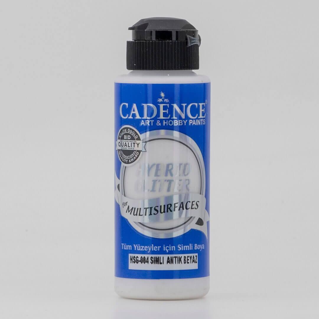 Antik Beyaz Cadence Multisurface Simli Akrilik Boya HSG004 - 120 ML